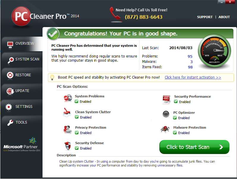 PC Cleaner Pro 2014 version 12.9.14.7.23 Full Keygen