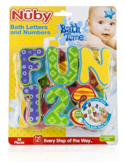 nuby foam bath letters and numbers review