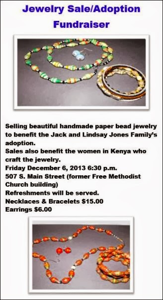 12-6 Jewelry Sale/Adoption Fundraiser