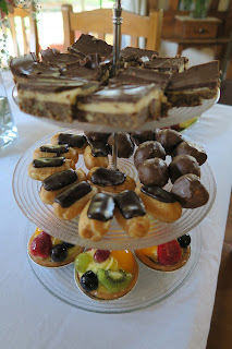High tea sweet tiered platter
