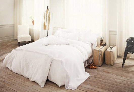 fluffy white bedding 1