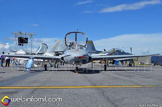 Avión de entrenamiento avanzado T-37 Tweet de la Fuerza Aérea Colombiana