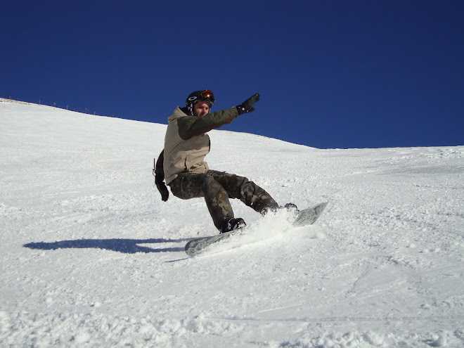 En la nieve