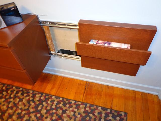 Dresser Built into Wall