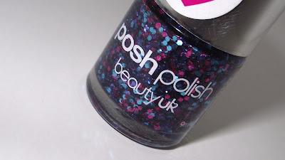 Beauty UK Posh Polish Intense Glitter Nail Varnish Review - 18 Pinkabloo