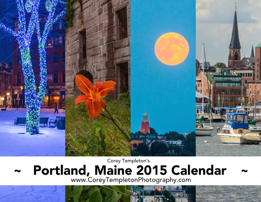 2015 Portland, Maine Calendar by local photographer Corey Templeton