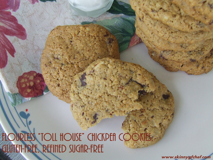 "Flourless ""Toll House"" Chickpea Cookies, gluten-free, refined sugar-free"