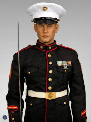 Marine corps dress blue white uniform