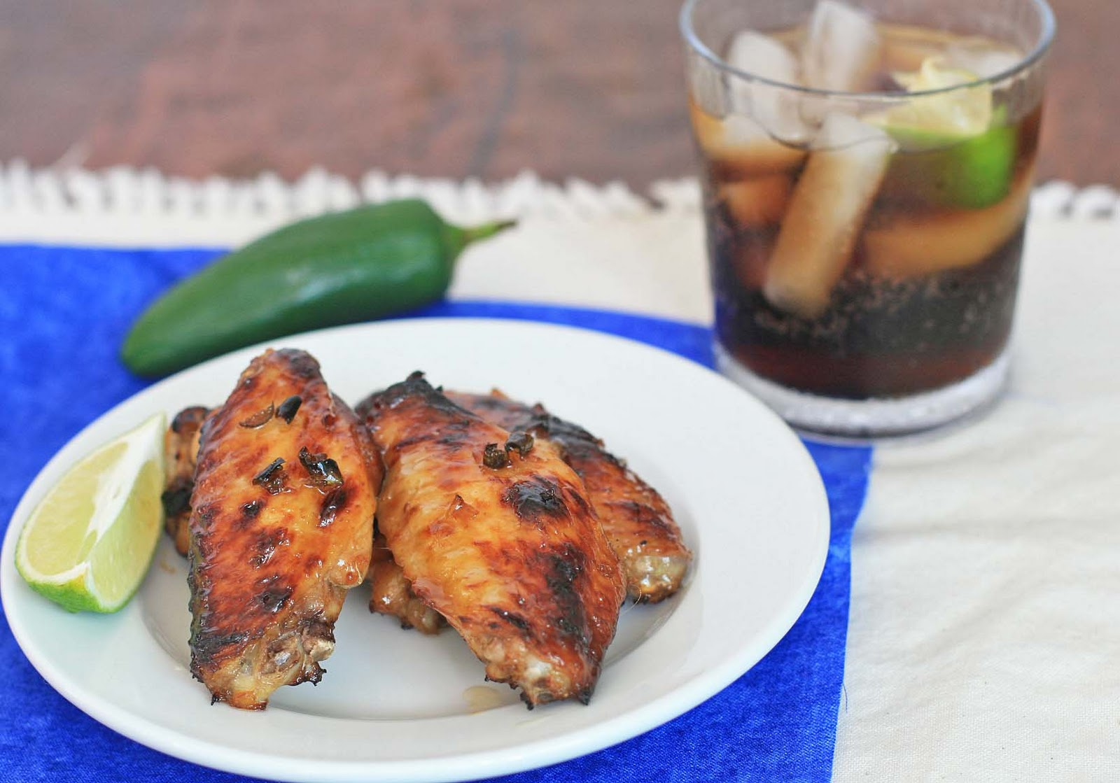 Spicy Coca-Cola Jalapeno Glaze Chicken Wings | Girl Cooks ...