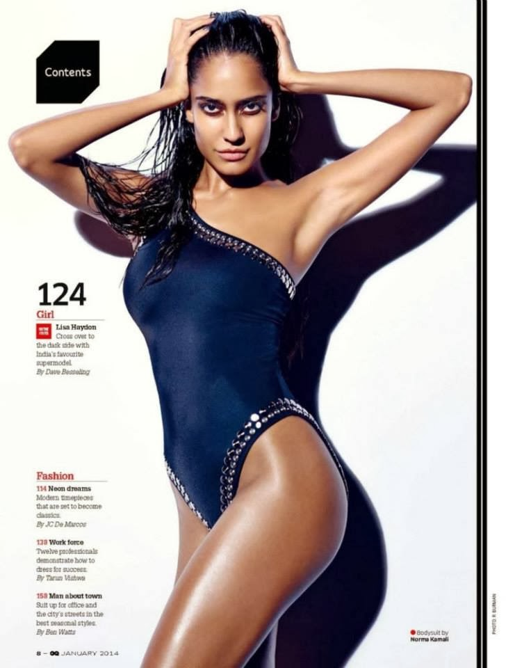 Sexy Supermodel Lisa Haydon Scans From GQ Magazine Jan ...