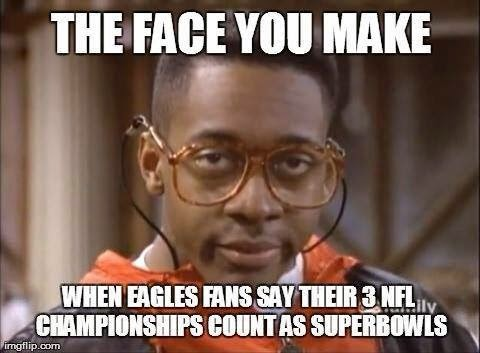 the face you make when eagles fans say their 3 nfl championships count as superbowls