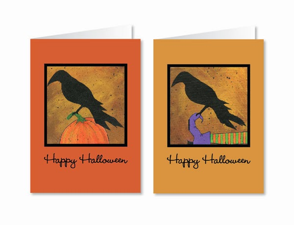 Happy Halloween Greeting Cards Made From Original Paintings