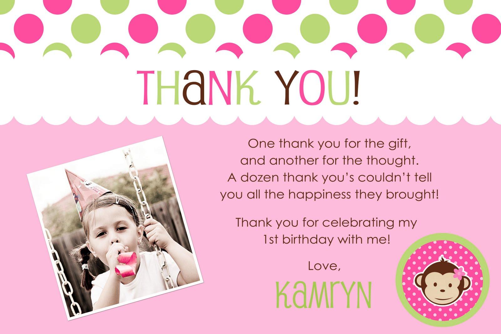 OopsieDaisy Greetings Birthday Thank You Cards – Birthday Thank You Photo Cards