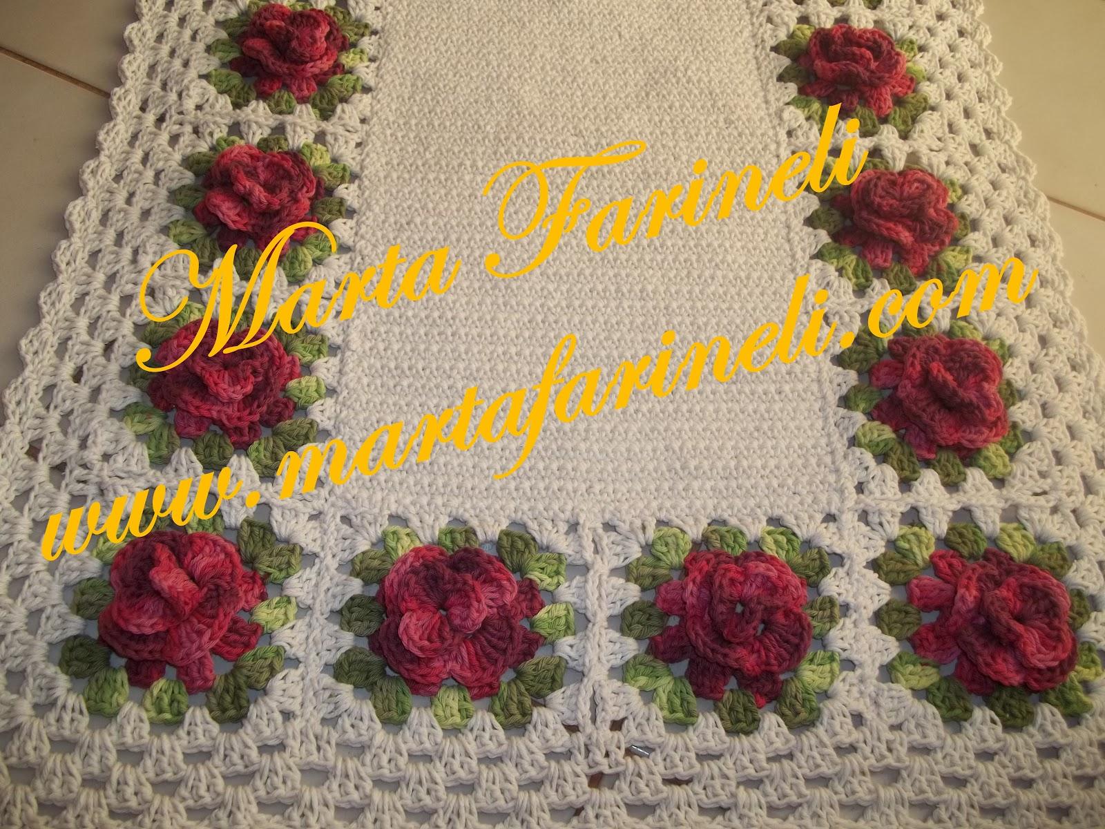 Tapetes Croche Sala Quarto Cozinha Banheiro Flores And Post Ajilbab