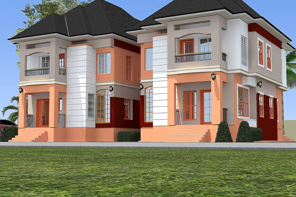 Mr patrick 4 bedroom twin duplex residential homes and Twin bungalow plans