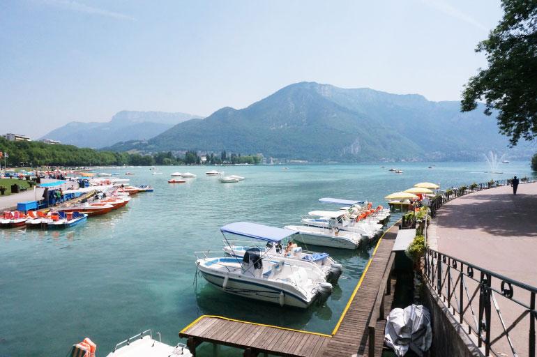 Port sur le lac d'Annecy