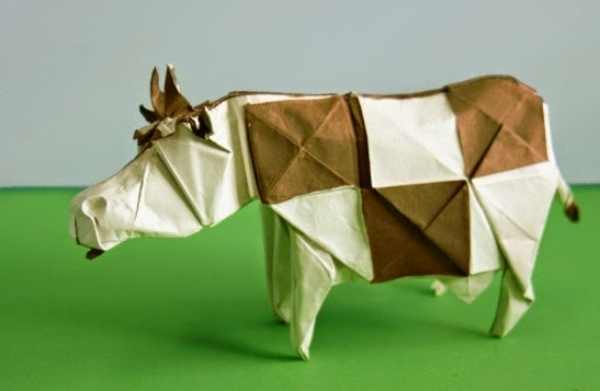 Origami Cow Easy Paper Craft For Kids