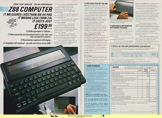 Sinclair Z88 (1987)