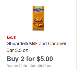 image regarding Ghiradelli Printable Coupons identified as $2 Ghiradelli Chocolate Bars @ Meijer! A One Coupon