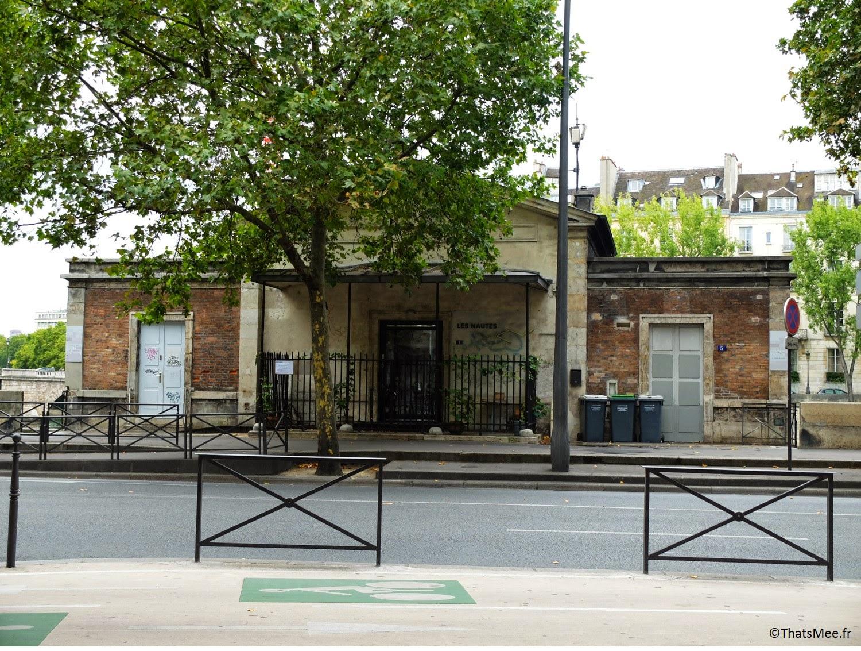 terrasse restaurant Les Nautes Paris quai des Célestins vue sur la Seine  auvent metallique