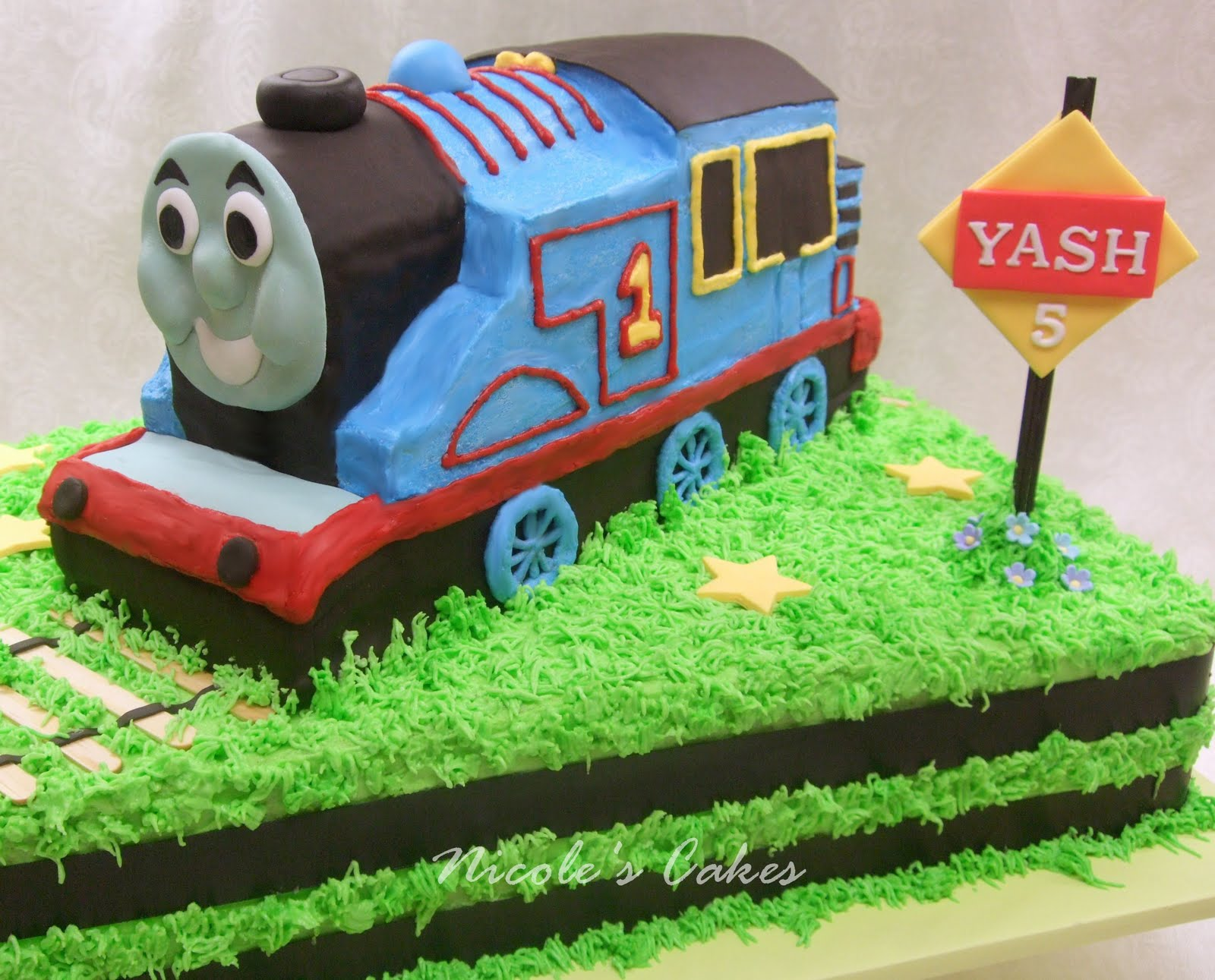 On Birthday Cakes 3D Model Thomas the Tank Engine Cake Eggless