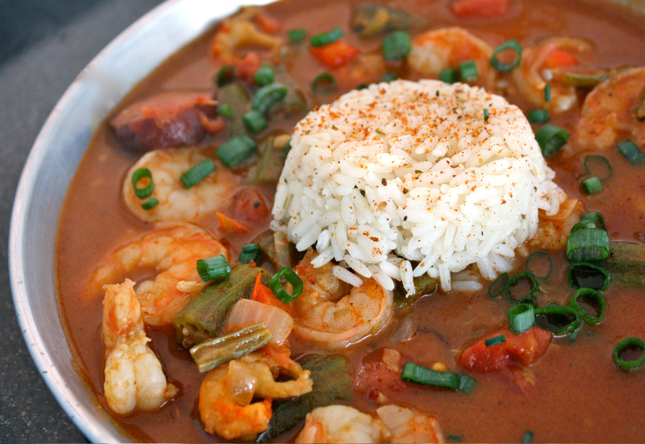 Have her over for dinner seafood gumbo for Authentic cajun cuisine