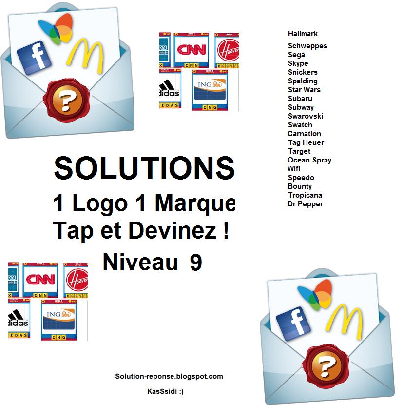 Solution 1 marque 1 logo quiz niveau 9 sur solution-reponse.blogspot ...