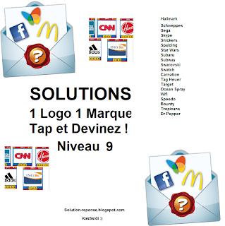 Solution 1 marque 1 logo quiz niveau 9