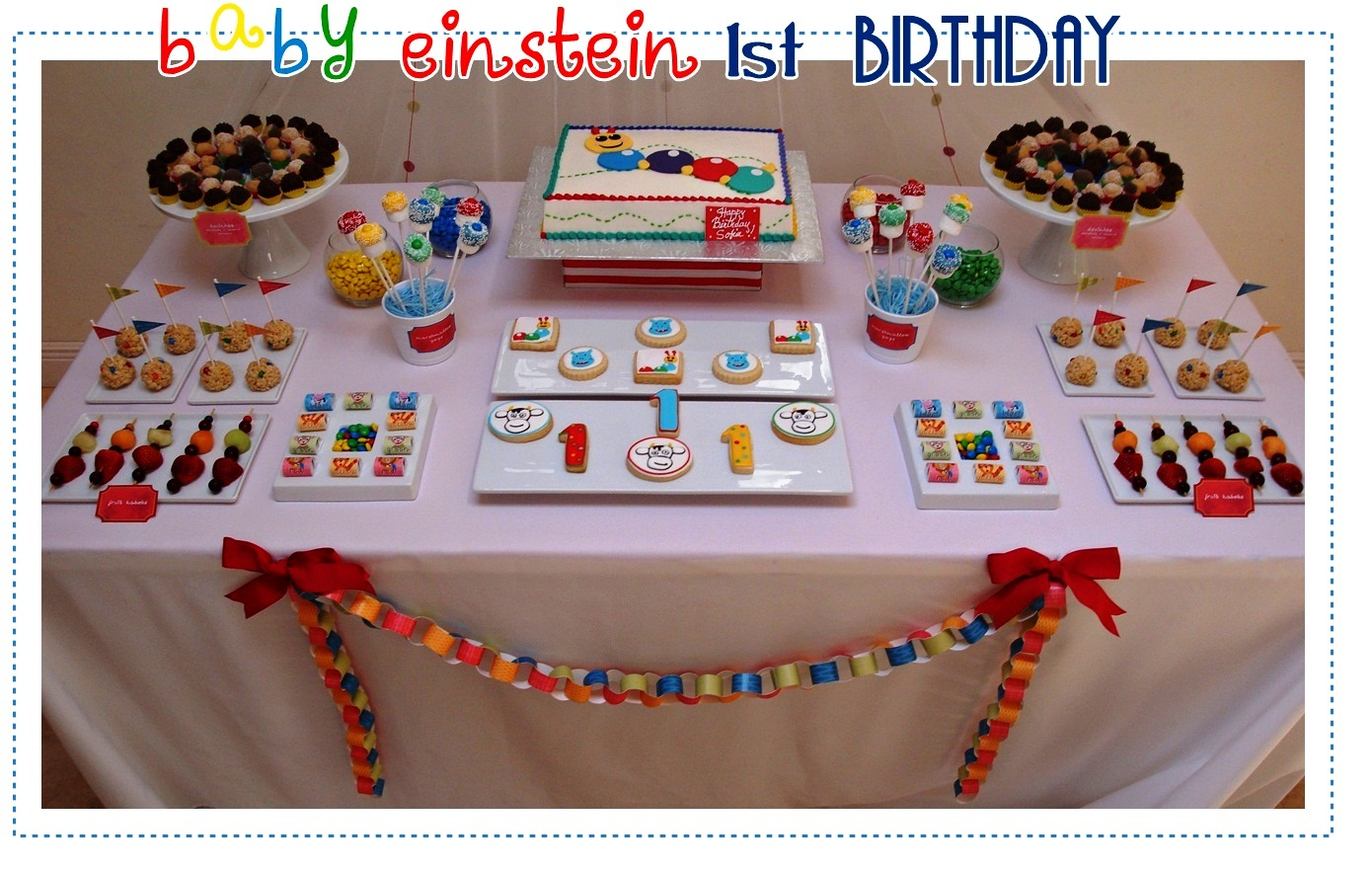 Baby einstein birthday party ideas baby einstein birthday for Baby einstein decoration