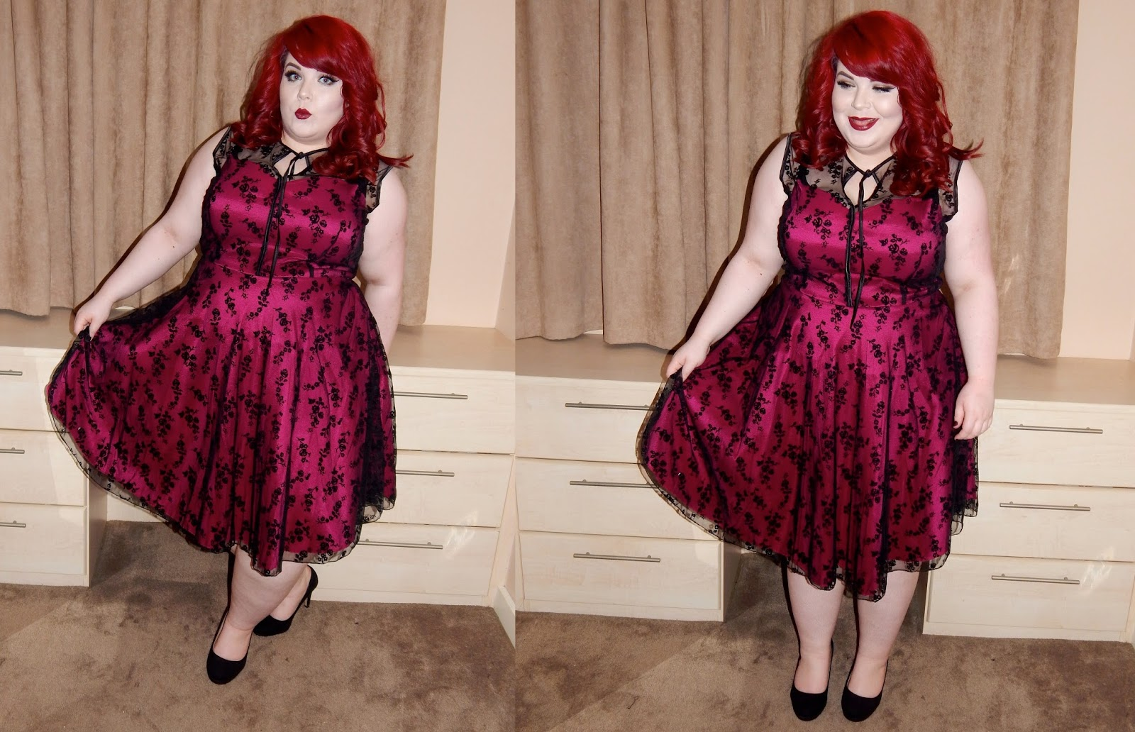 Voodoo Vixen Plus Size Hattie Dress, plus size blogger, shemightbeloved, georgina grogan