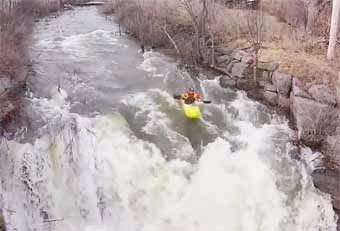Cold Trip...Kayaker Navigates Black River in Brownville