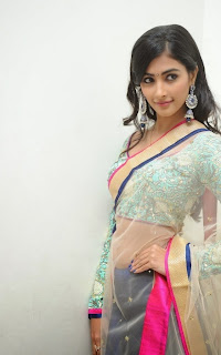 Actress Pooja Hegde Latest Pictures in Saree at Mukunda Audio Release Function  39.jpg