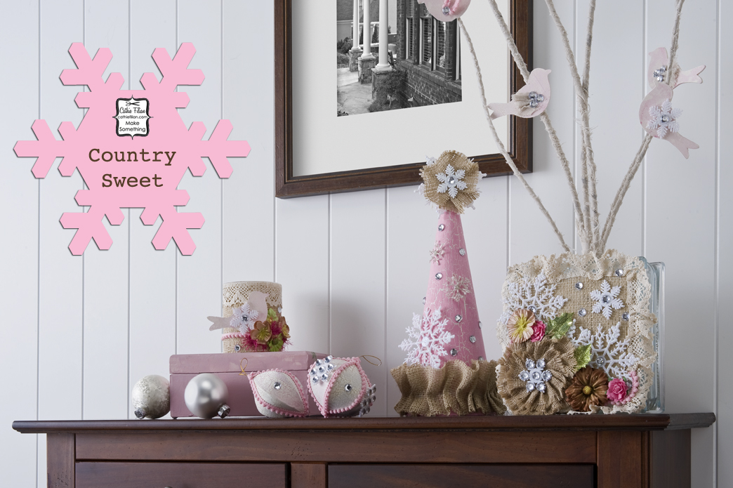 Diy country chic christmas for Country chic christmas