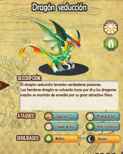 imagen de las caracteristicas del dragon seduccion
