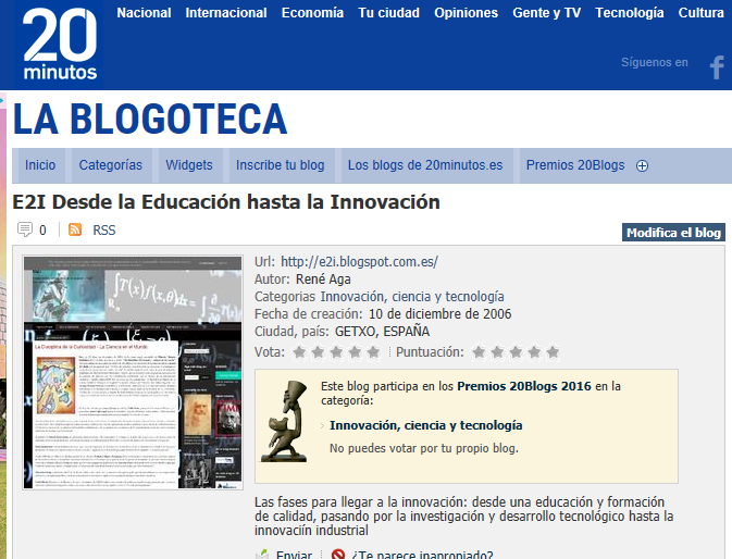 Concurso Blogoteca 20 Minutos