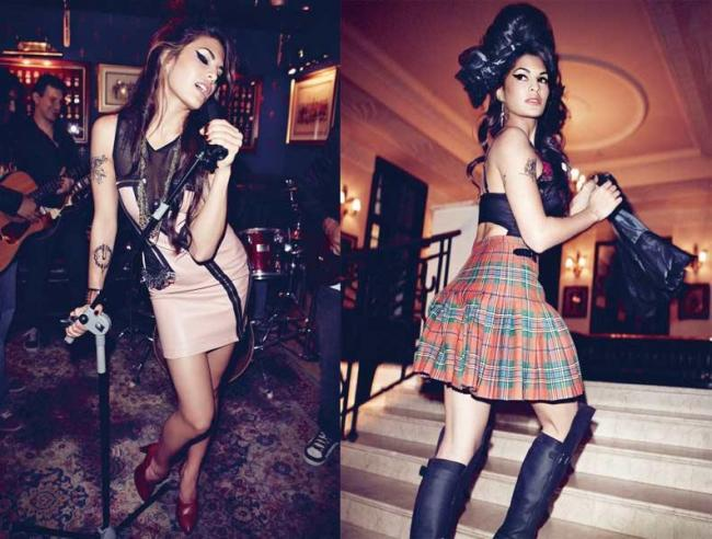 jacqueline fernandez as amy winehouse in harper bazaar - hot photoshoot