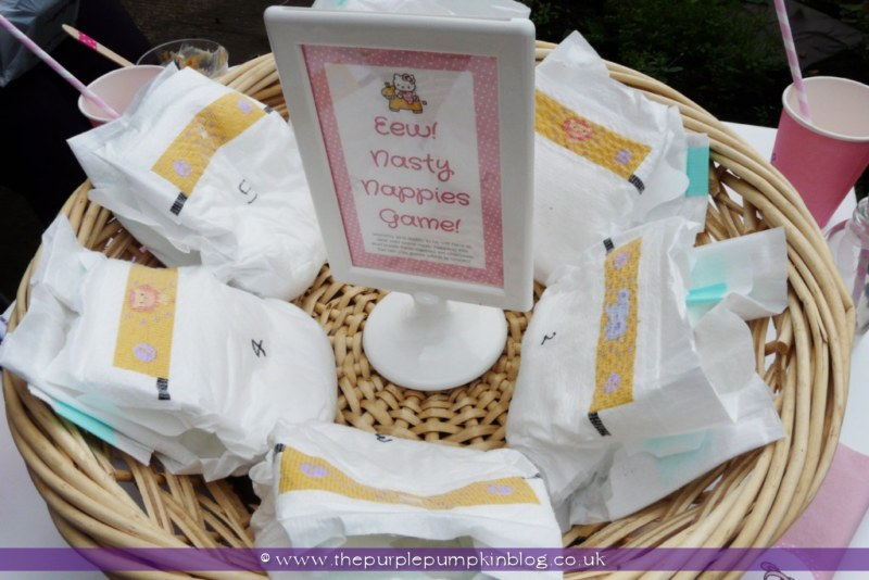 Nasty Nappies Game For A Baby Shower At The Purple Pumpkin Blog