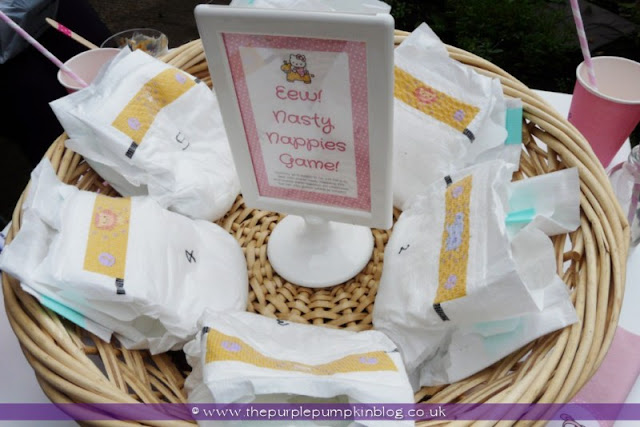 Eew! Nasty Nappies Game for a Baby Shower at The Purple Pumpkin Blog