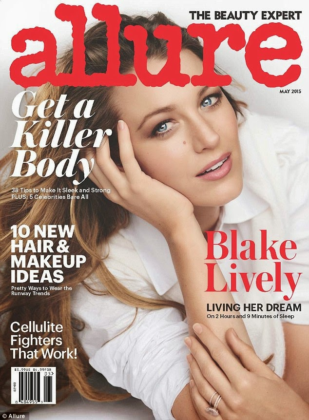 Actress @ Blake Lively by Mario Testino for Allure, May 2015