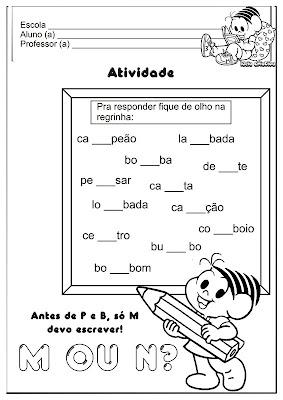 Palavras   M Final E M Antes De P E B