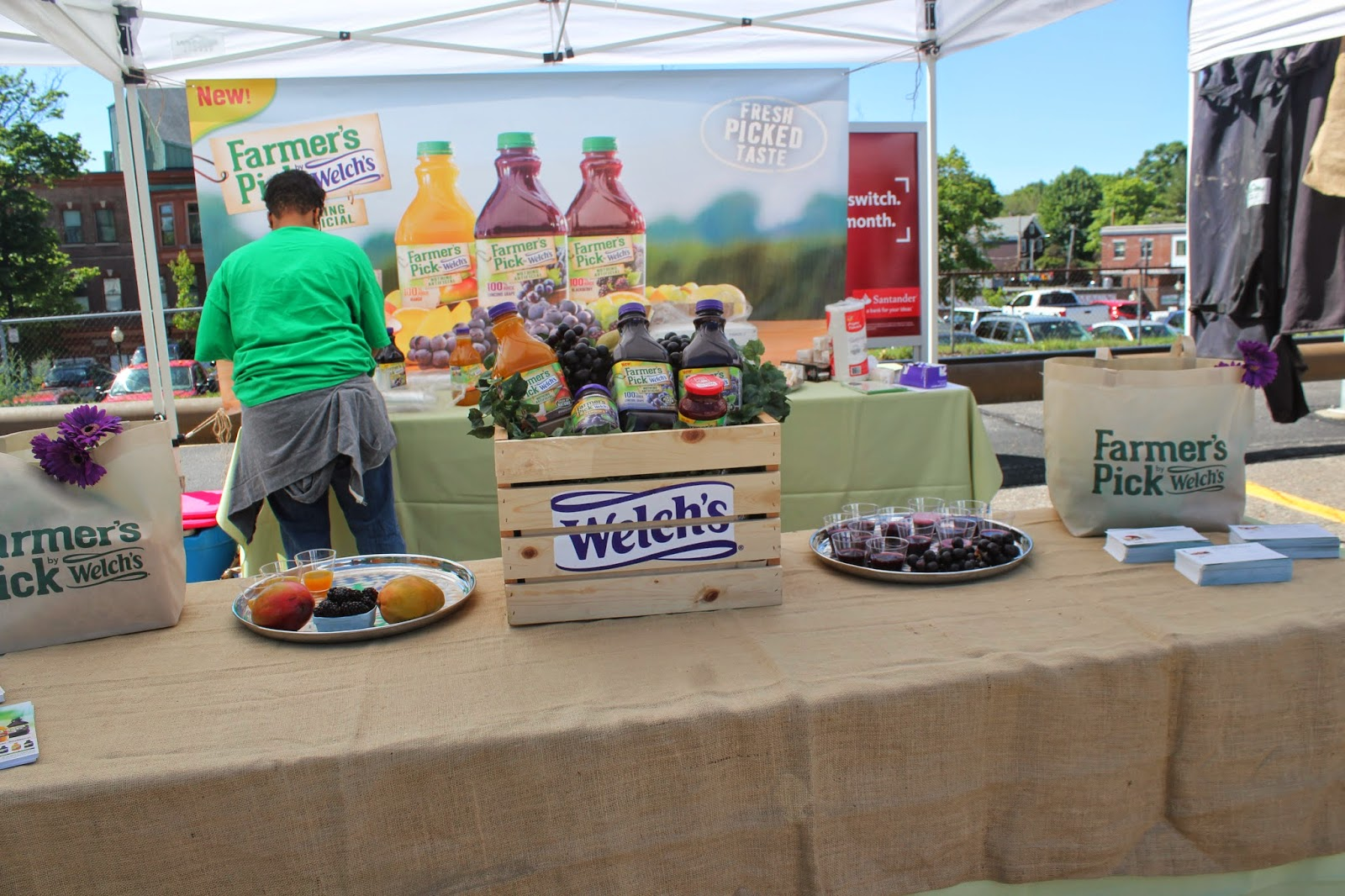 Welch's stand at the Roslindale Village Main Street Farmers' Market