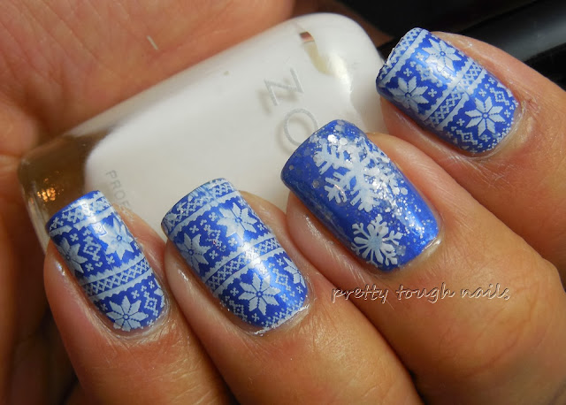 Christmas Sweater Stamping With L'Oréal Notting Hill Blues