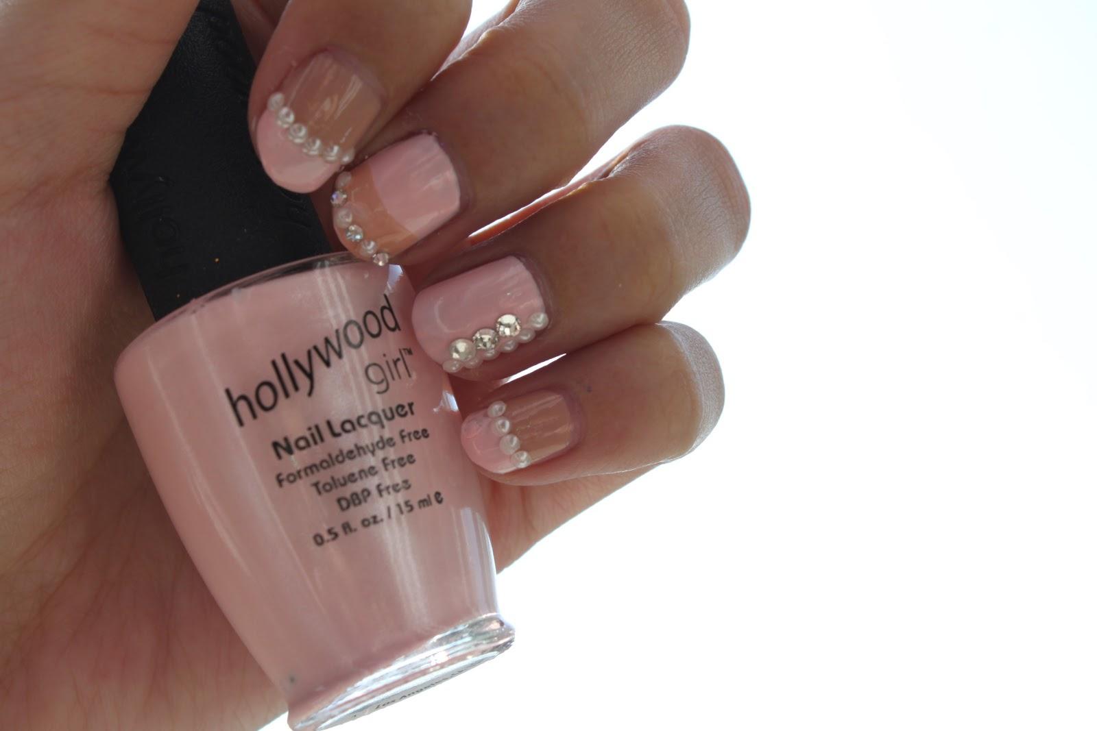 Baby girl pink nail polish