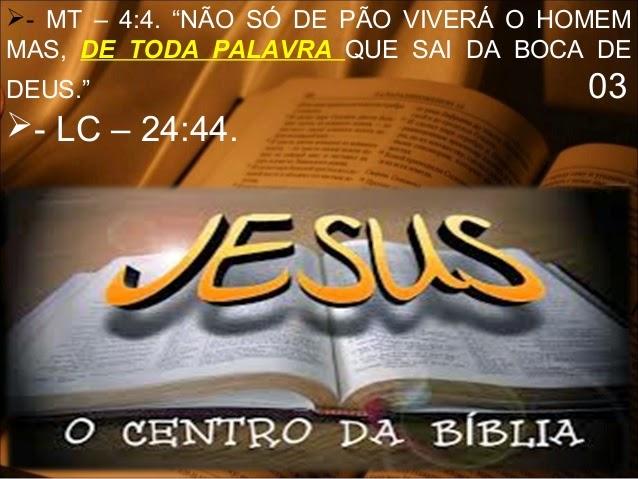 Jesus é completo. A obra de Deus em favor da humanidade - O centro da Bíblia
