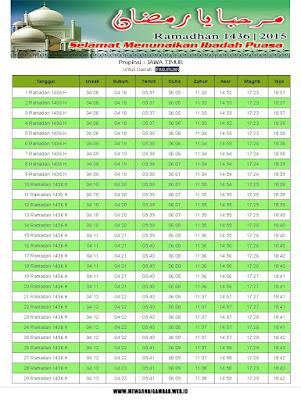 Jadwal Imsakiyah Pasuruan Ramadhan 1436 H