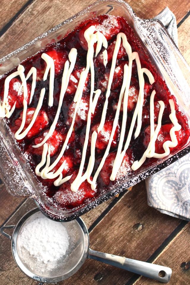 2 Ingredient Raspberry Dumplings