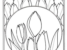 Printable Coloring Pages Of Tulips