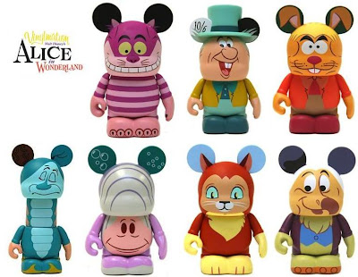 Disney Vinylmation Alice in Wonderland Series - Cheshire Cat, Mad Hatter, March Hare, Caterpillar, Oyster Baby, Mystery Chase Dinah &amp; Dodo