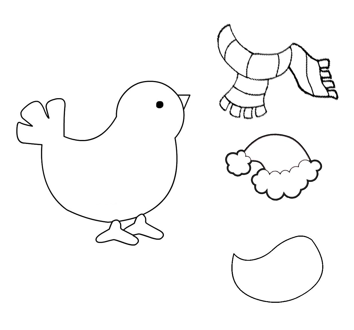 Alberi contenti disegni da colorare no natale for Uccellino disegno
