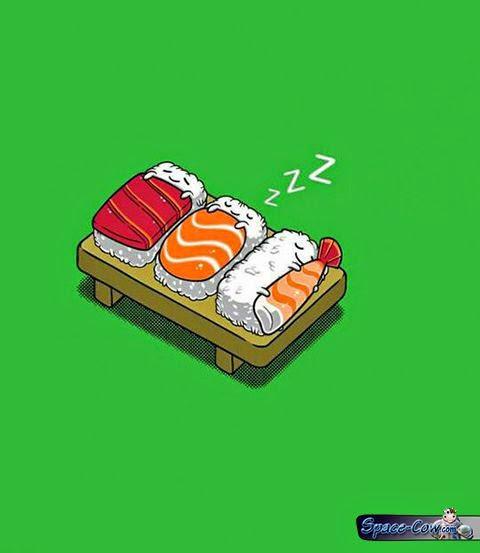 funny cute sushi pics